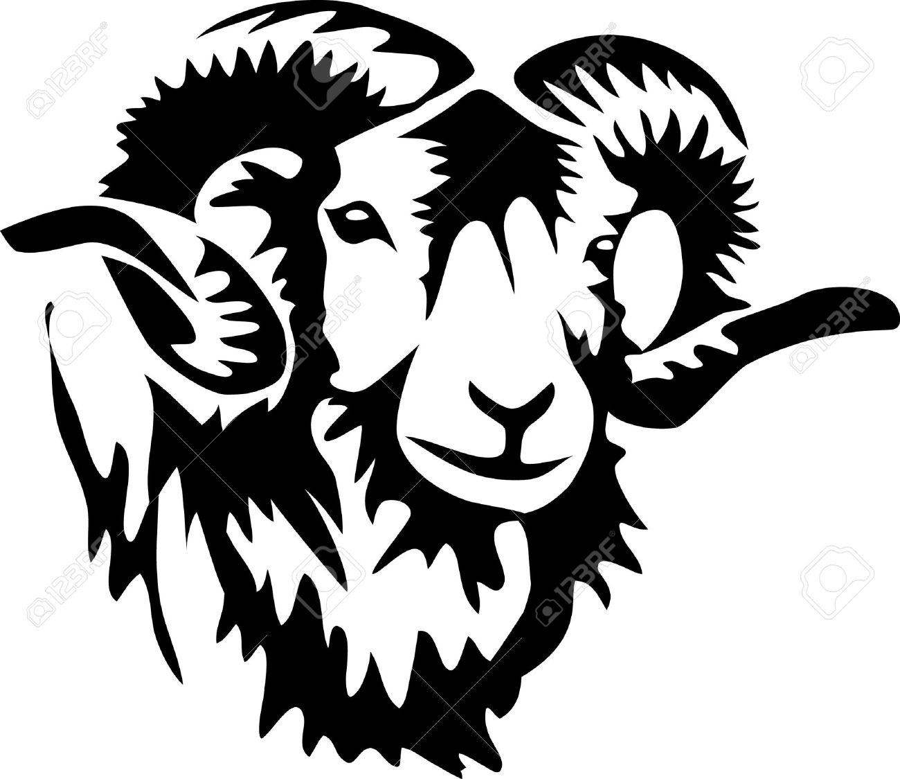 1300x1125 Head Of Ram Royalty Free Cliparts, Vectors, And Stock Illustration