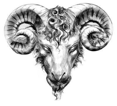 400x361 Aries Taurus Tattoo Of Ram Head, Big Bull Horns Just Free Image