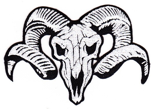 528x375 Ram Head Skull Patch Specialty Patches Popular Patch