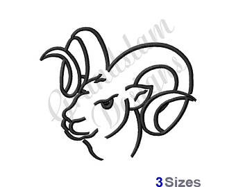 340x270 Ram Embroidery Etsy