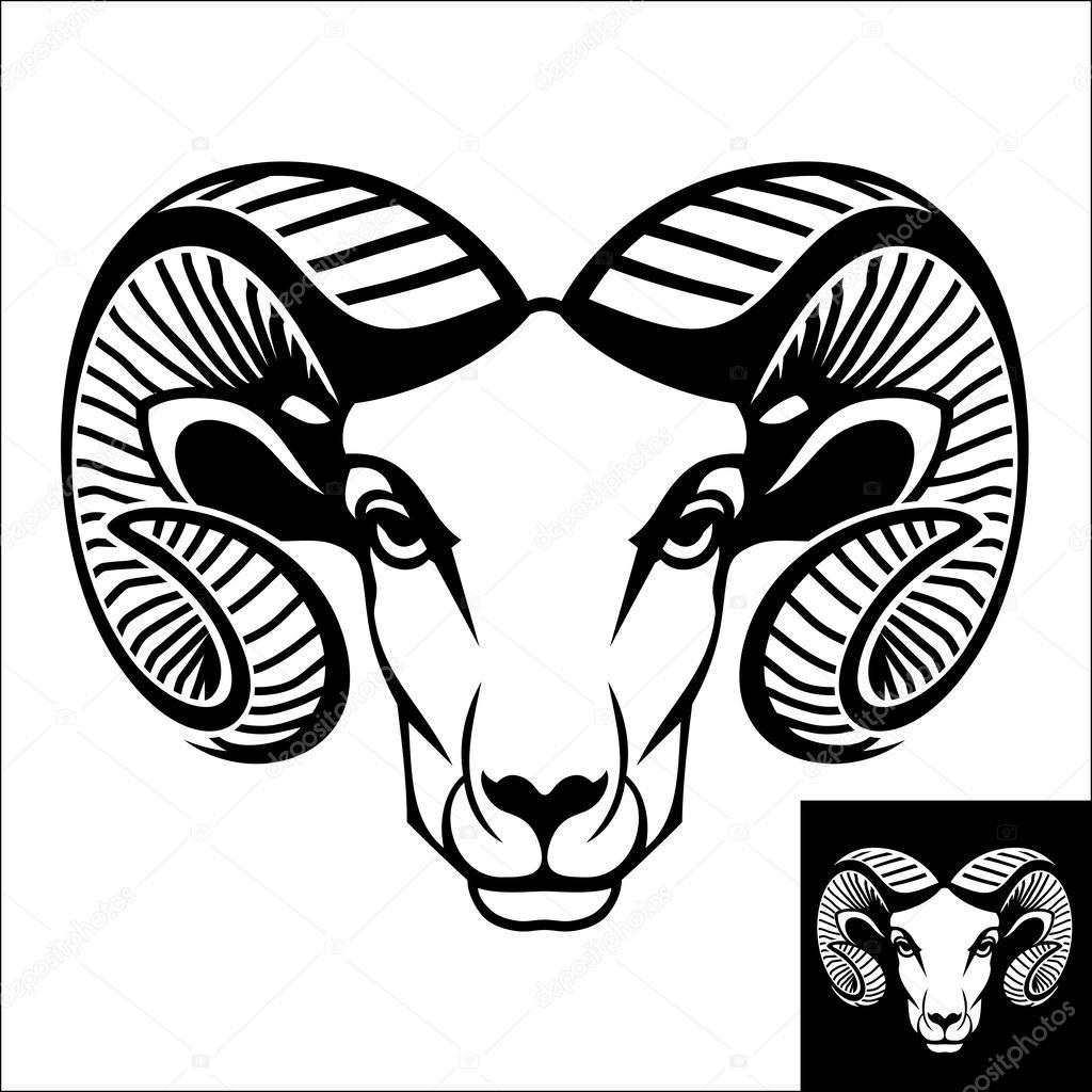 1024x1024 Ram Head Logo Or Icon Stock Vector Epifantsev