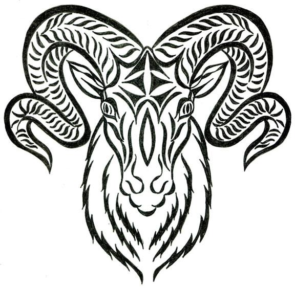 576x563 Nordic Ram Tattoo