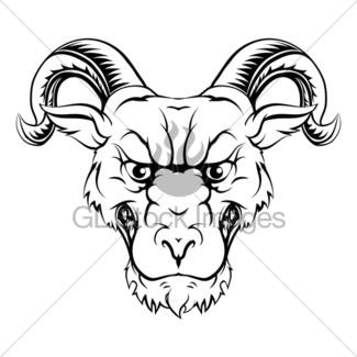 325x325 Collection Of Ram Horns Vector Illustrations Gl Stock Images