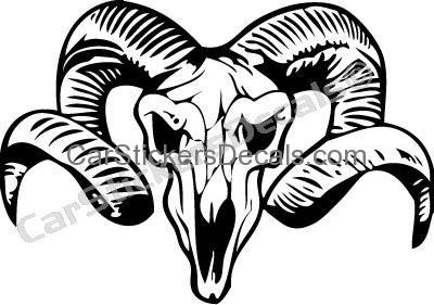 400x281 Ram Skull Sticker Amp Decal