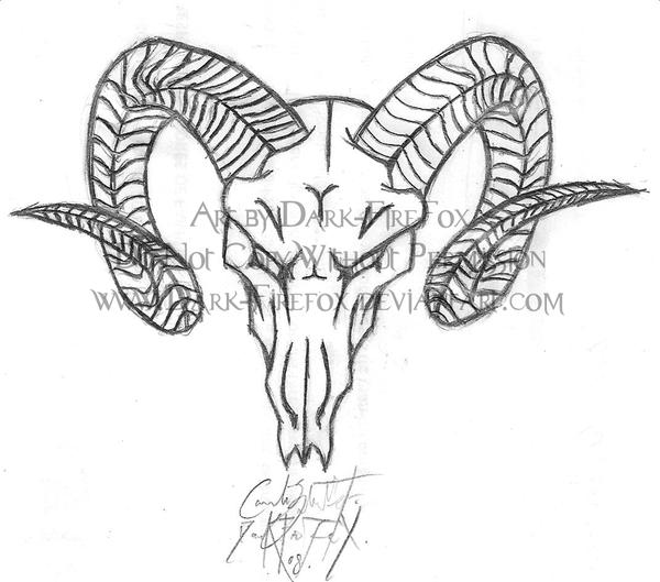 600x529 Ram Skull By Fleech Hunter