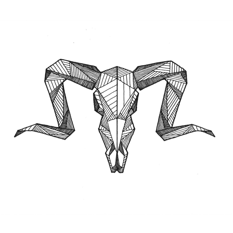 1500x1500 Ram Origami Chinese Illustrationdesign Tattoo