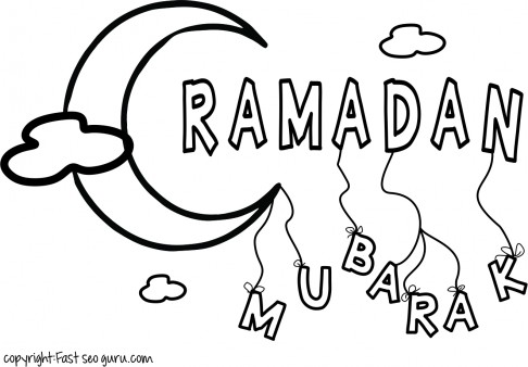 486x338 Printable Ramadan Mubarak Coloring Pages For Kids