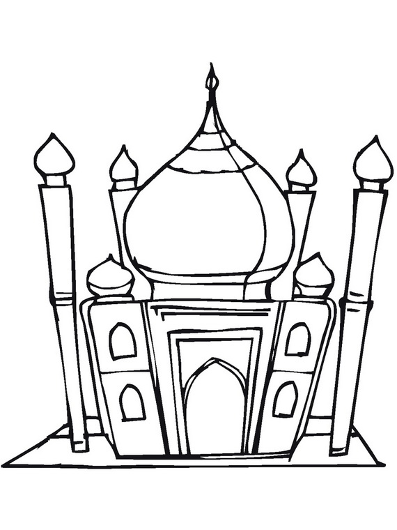 570x760 Ramadan Lantern Craft Ramadan Coloring Pages For Kids Family