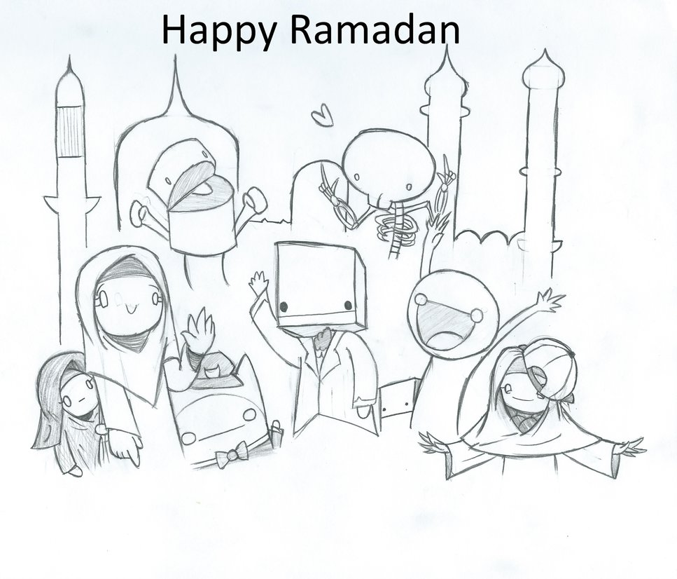 967x826 Happy Ramadan 1435! By Captain Pie
