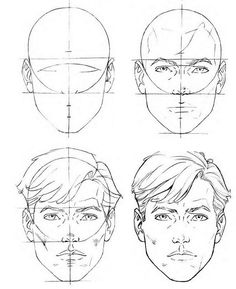 236x289 How To Draw Man Face'S