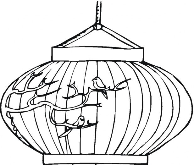 617x525 Chinese New Year Lantern Coloring Pages Chinese New Year