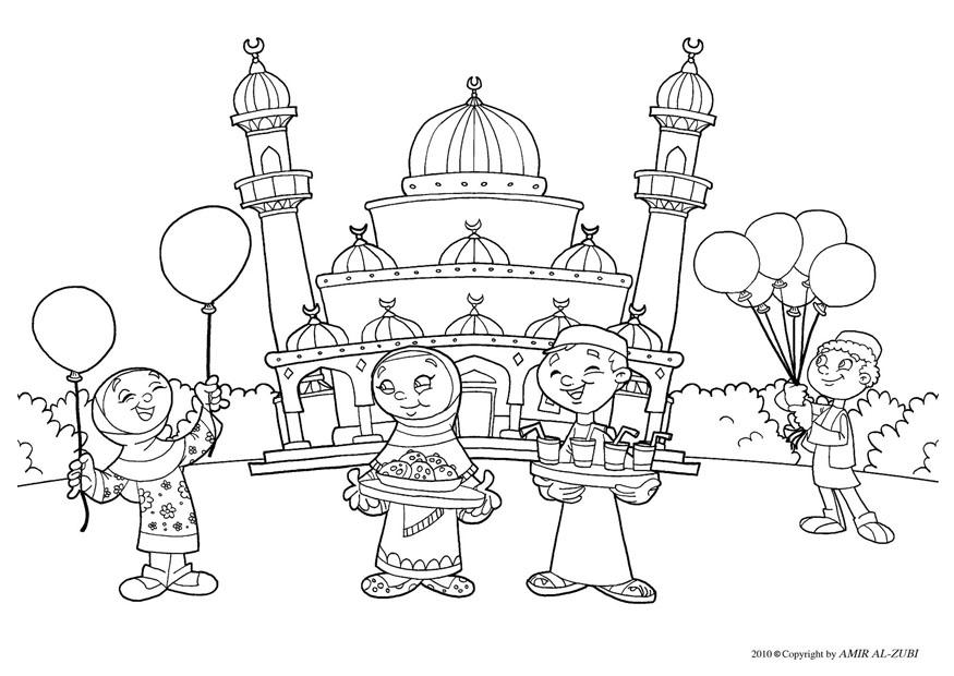 875x620 Coloring Page Eid Ul Fitr
