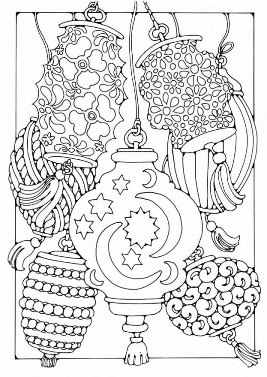 531x750 Coloring Page Lanterns Coloring Pics Adult