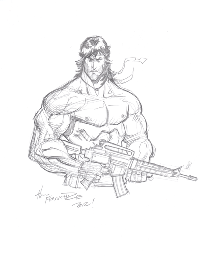 400x517 Jerry Gaylord Rambo By Cjz