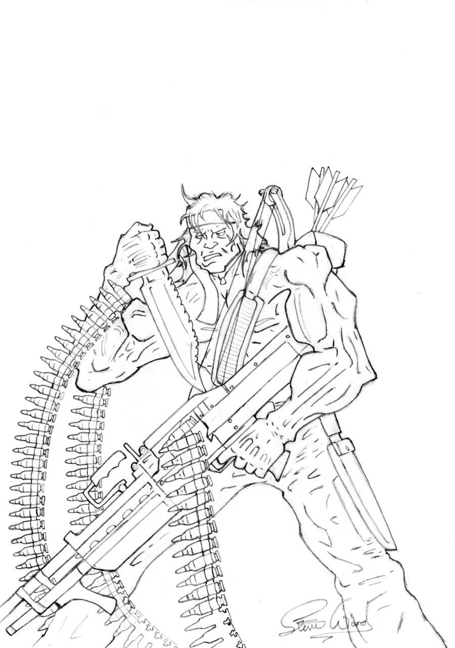 900x1281 John Rambo Sketch By Cybopath