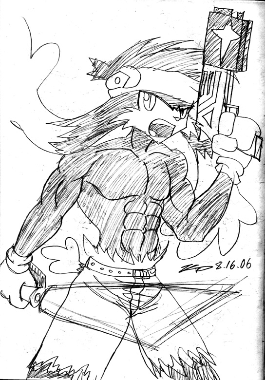 544x780 Klonoa As Rambo. By Kd99