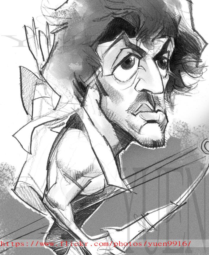 701x856 Rambo Comic Portrait Sketch Movie Sylvester Stallone Yuen9916