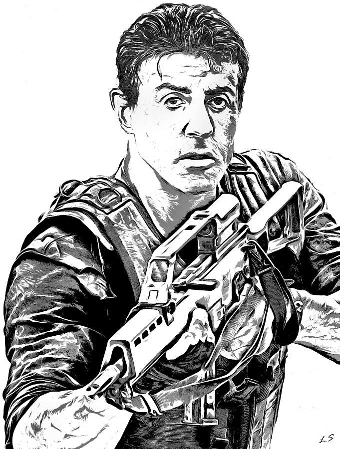 681x900 Rambo Drawings Fine Art America