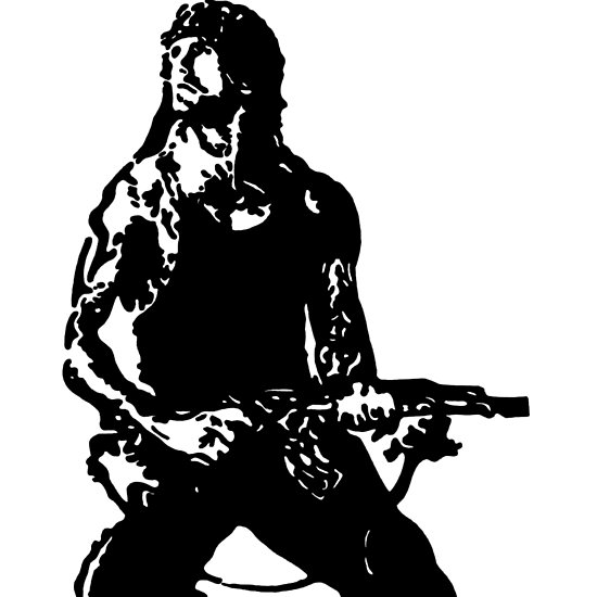 550x550 Rambo First Blood Stencil Photographic Prints By Jackfitzpatrick