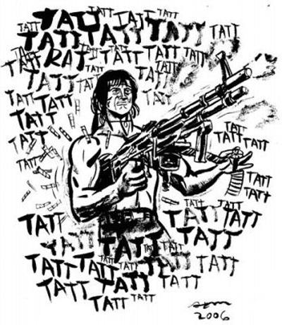 400x462 Sam Hiti's Rambo Art Available