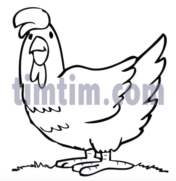 596x614 Free Drawing Of A Chicken Bw From The Category Farm Animals
