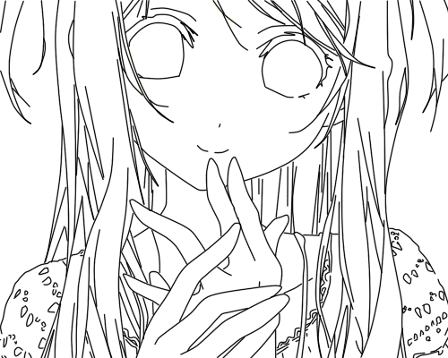 500x400 Random Anime Character Line Art By Naomuhiroko188