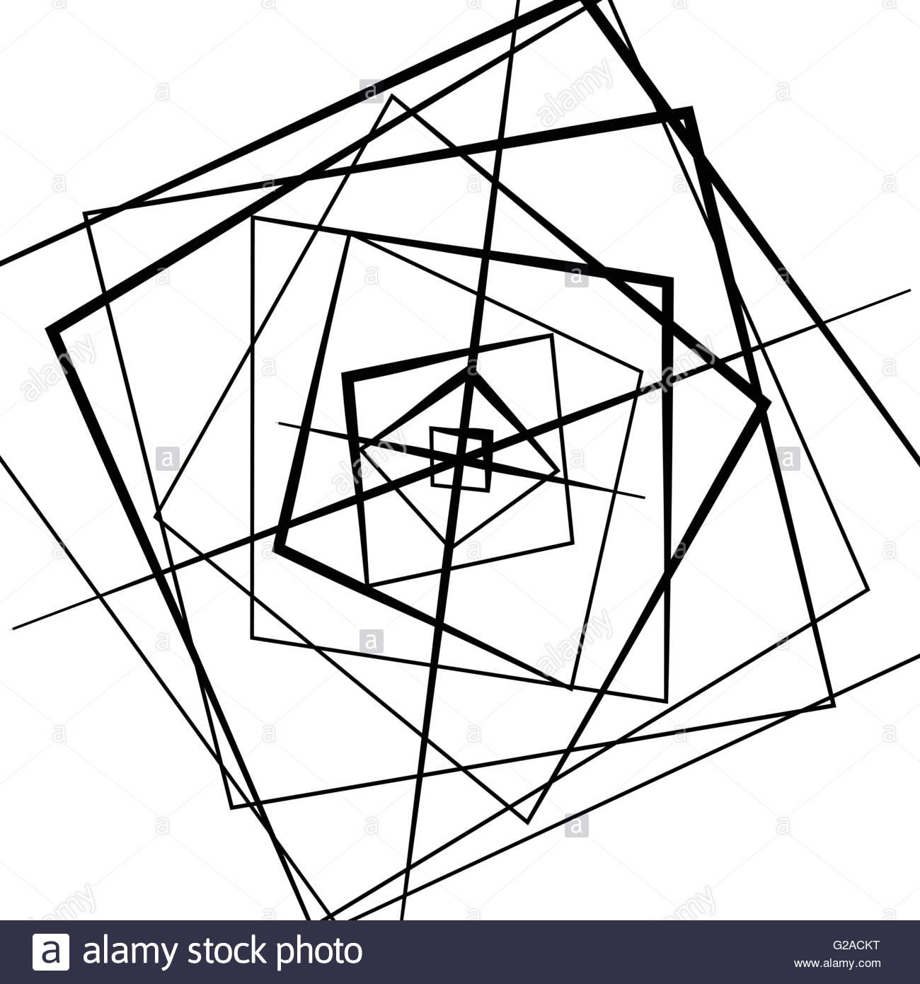 1300x1390 Random Intersecting Lines. Abstract Monochrome Geometric Art Stock