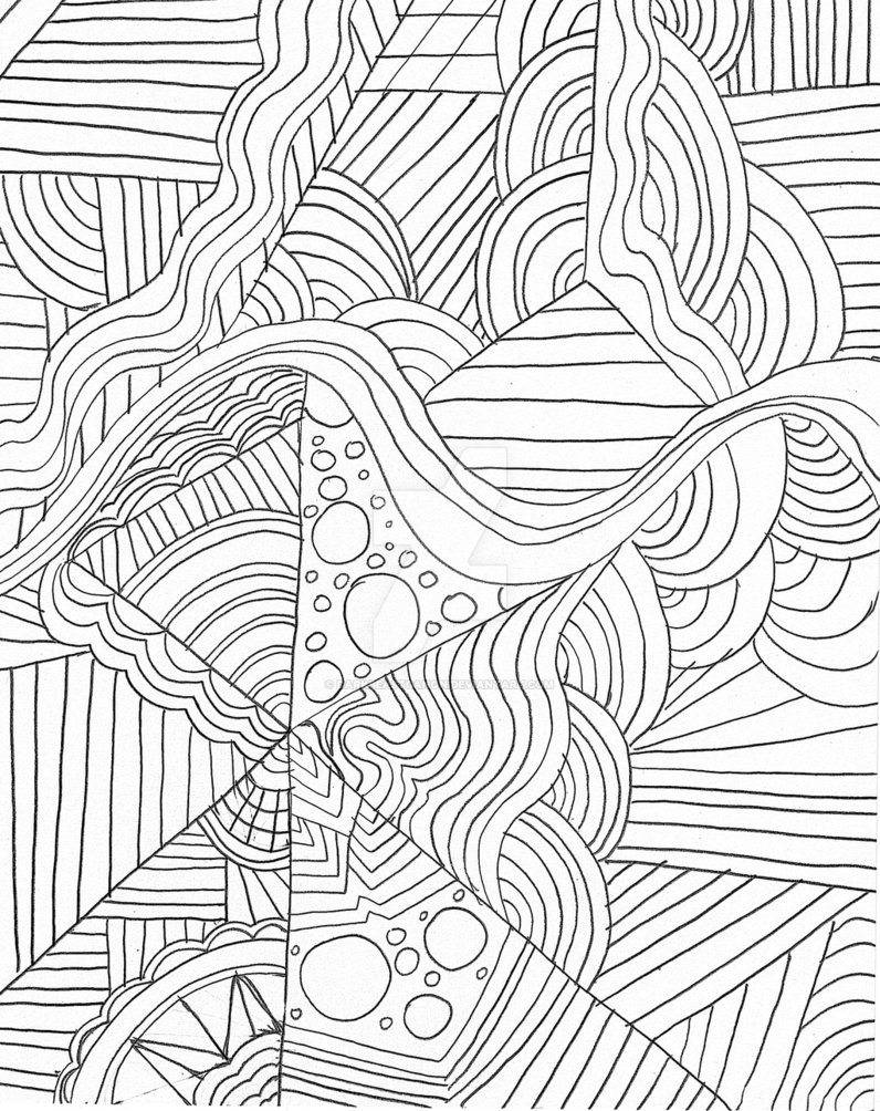 796x1004 Zen Doodle Inspired Random Design Number 2 By Darkbeastganon