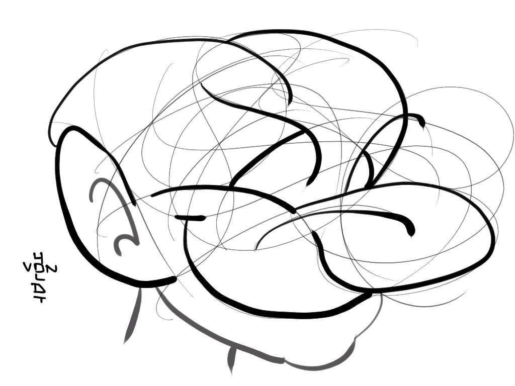 1024x768 Random Lines Doodle A Day