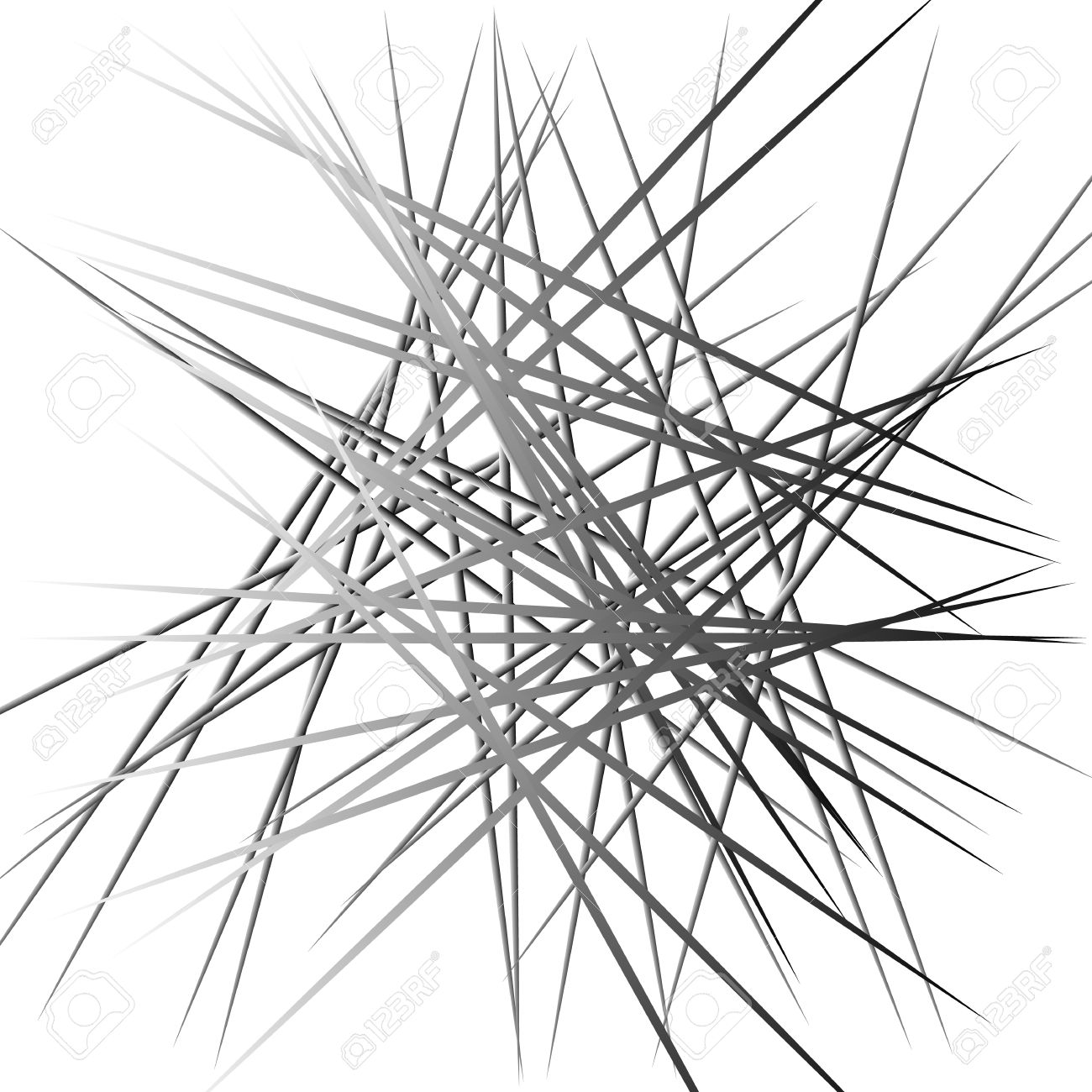 1300x1300 Abstract Chaotic Lines Pattern. Intersecting, Random Lines