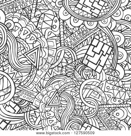 450x470 Doodle Seamless Pattern Random Vector Amp Photo Bigstock