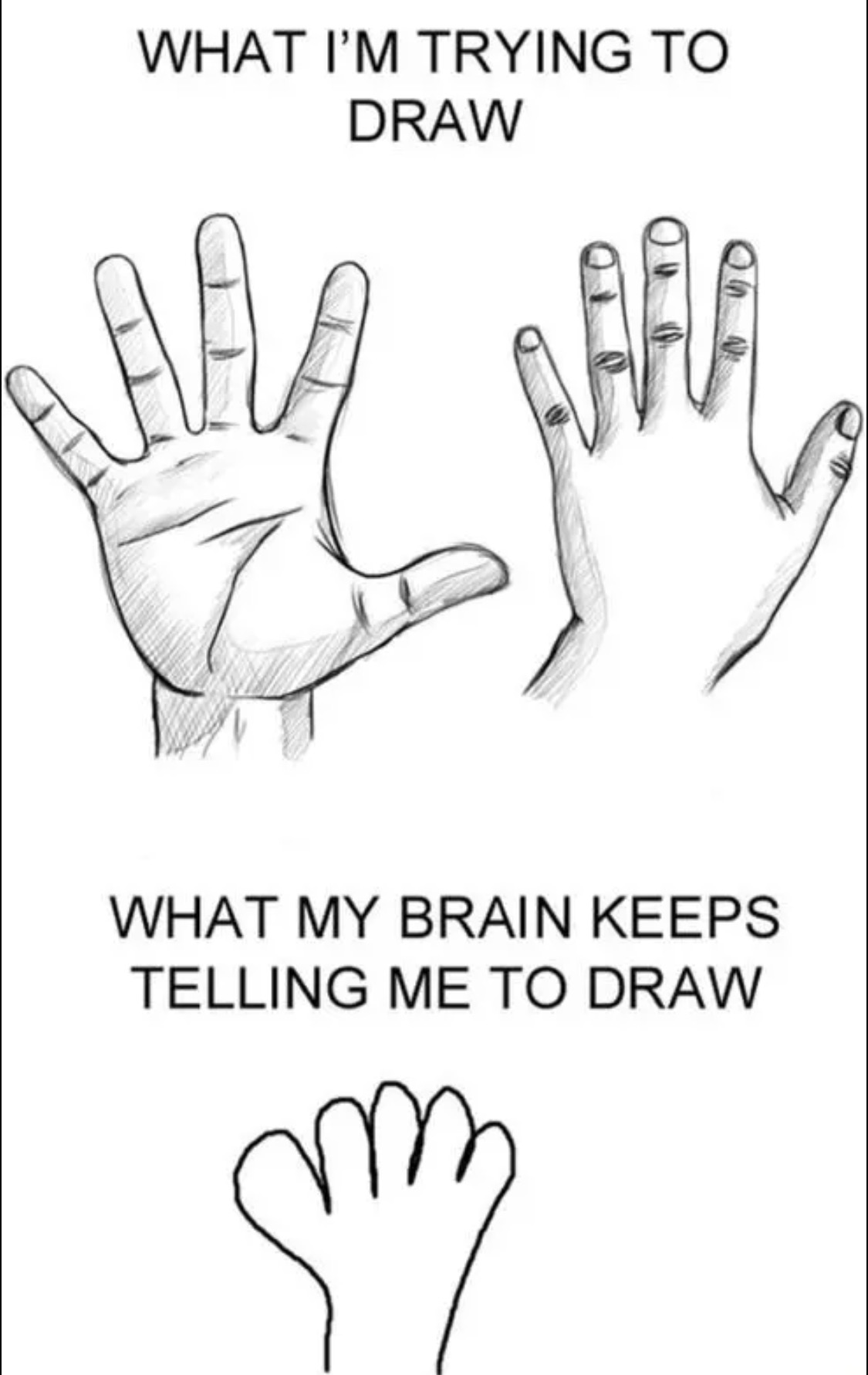 1125x1781 I Know The Struggle, Even With Cartoon Hands. Humor