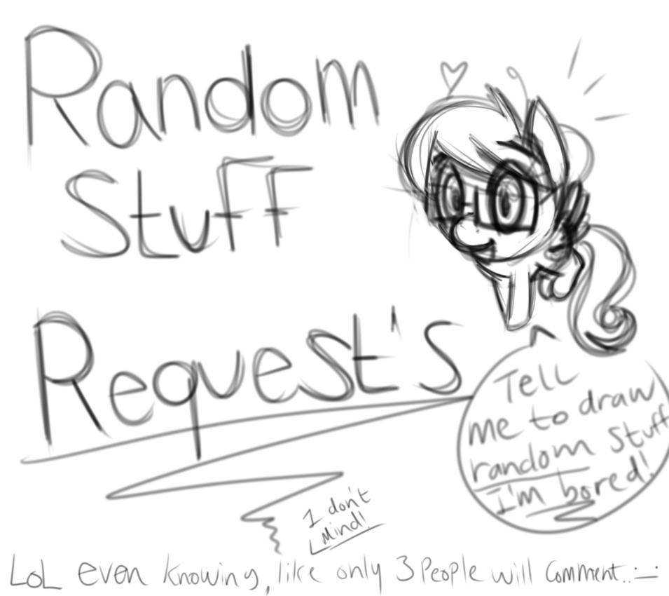 955x850 Tell Me To Draw Random Stuff!! ( I'M Bored! ) By Bubblegumdum