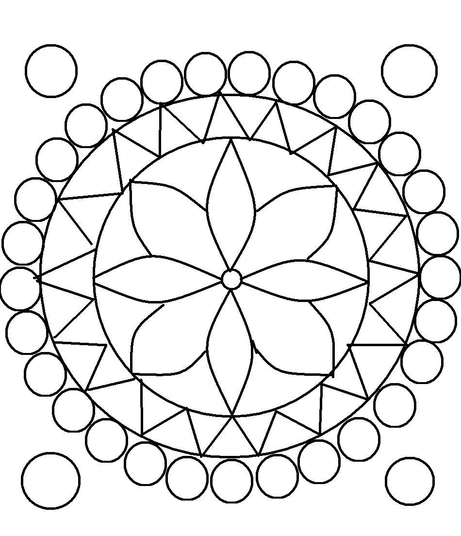 950x1104 Design Coloring Pages For Teens Rangoli Design Coloring