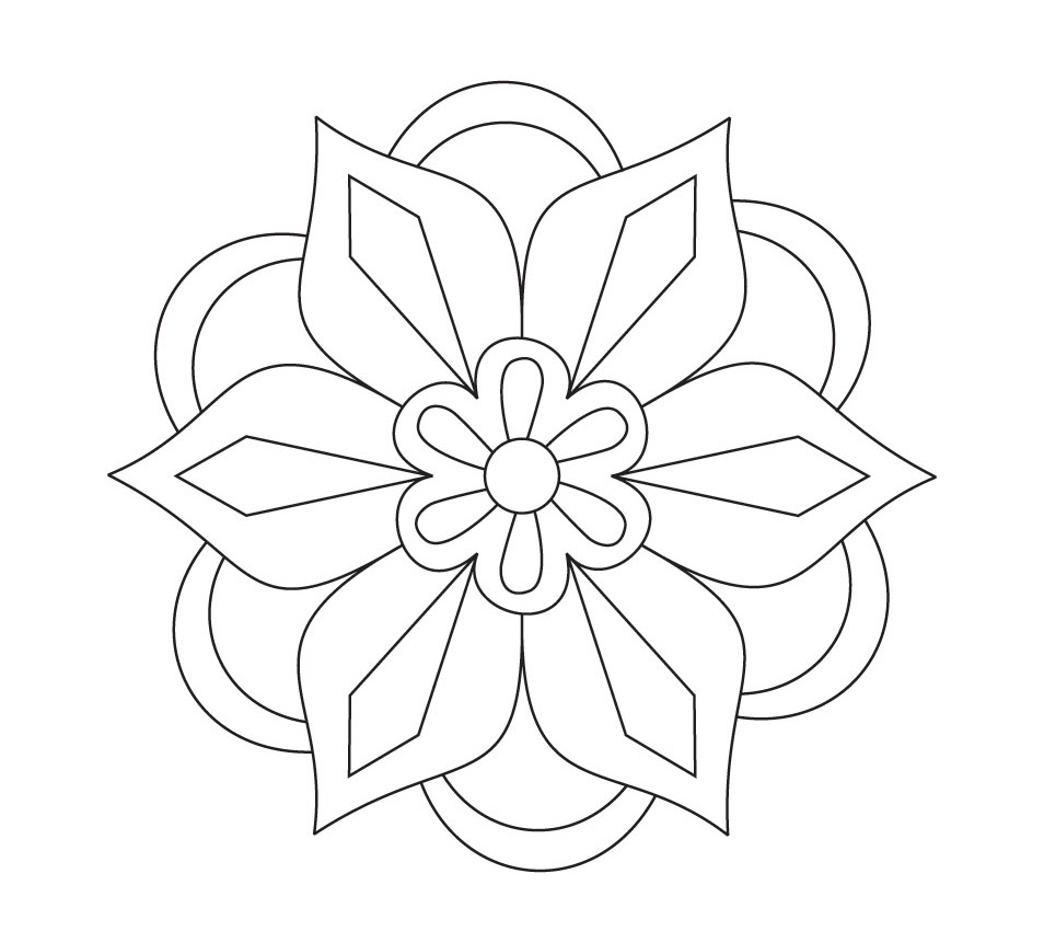 954x850 Diwali Rangoli Coloring Pages Free Printable Rangoli Coloring