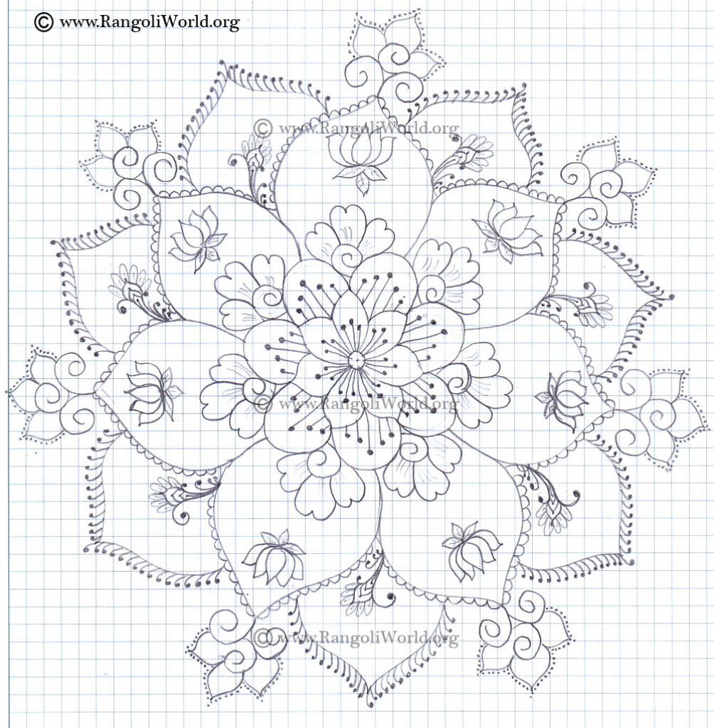 1004x1024 Flower Drawing Rangoli Rangoli Gallery