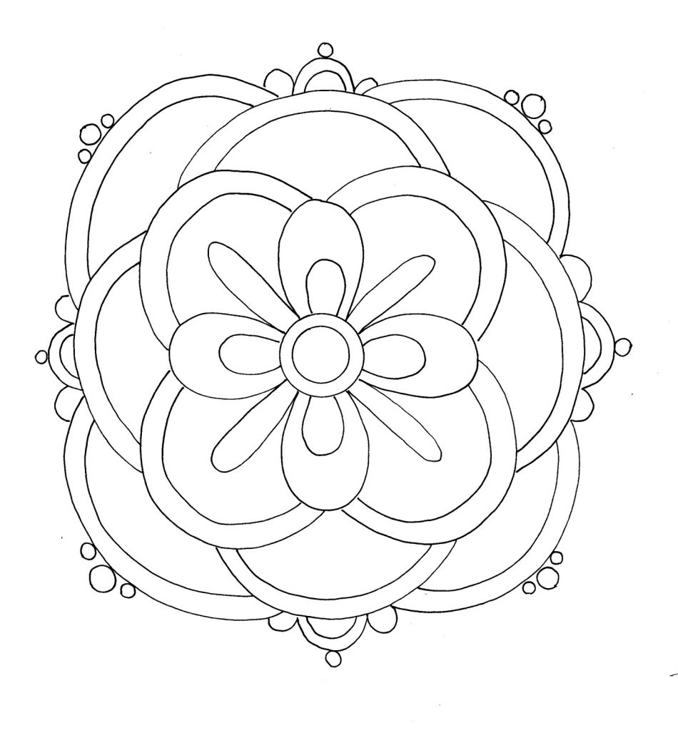 950x1024 Free Printable Rangoli Coloring Pages For Kids