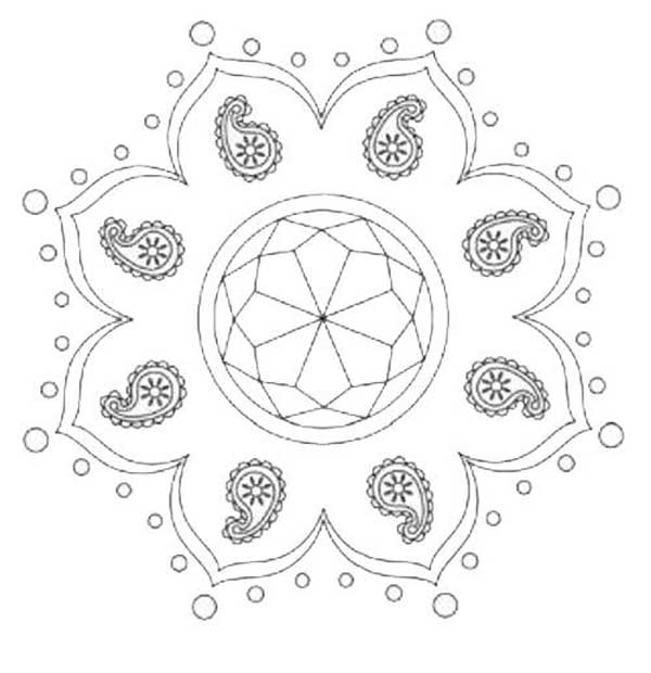 600x620 Rangoli Designs With Dots