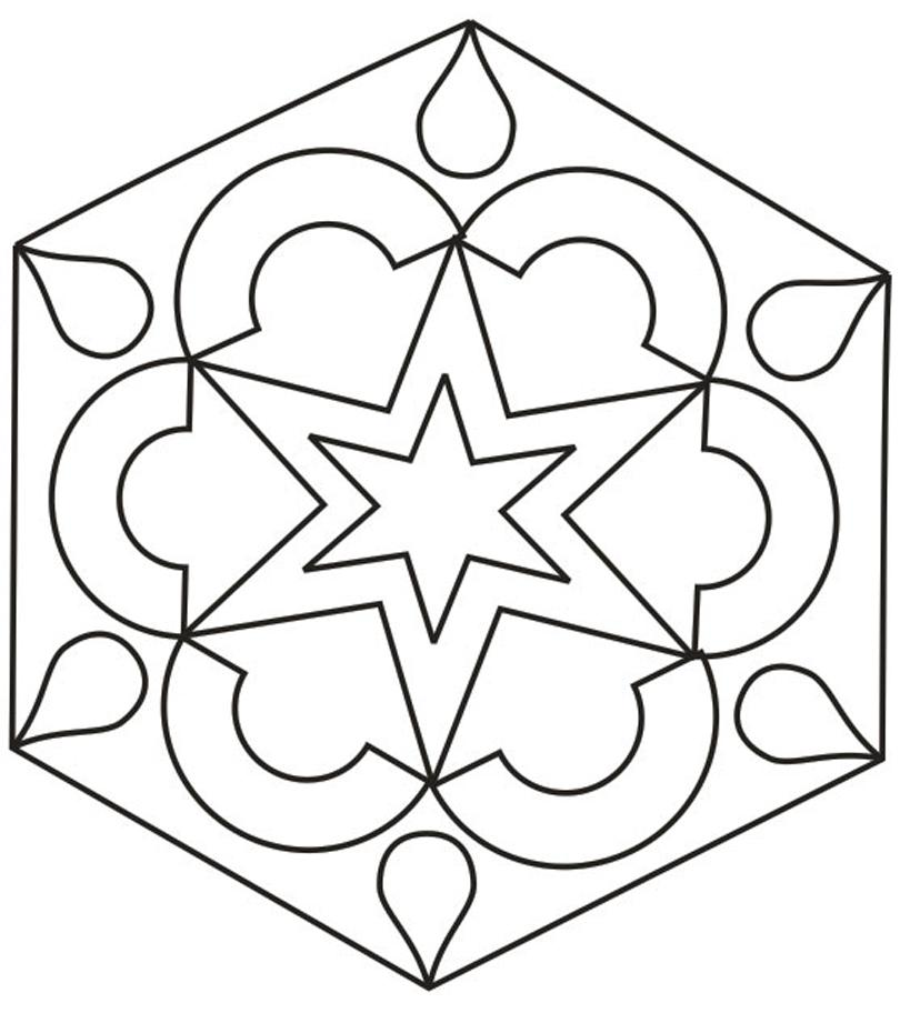 810x912 Rangoli Designs Coloring Printable Pages For Kids