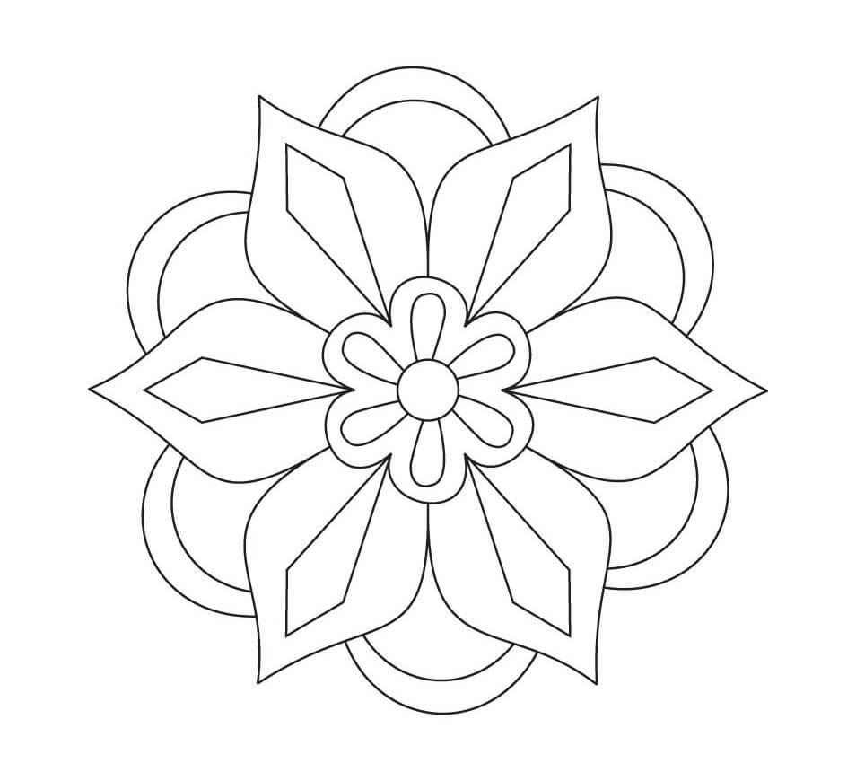954x850 Symmetric Rangoli Designs Images