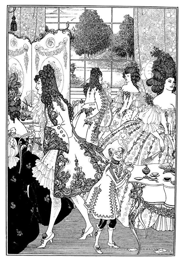 628x900 Beardsley Rape Of Lock Drawing By Granger
