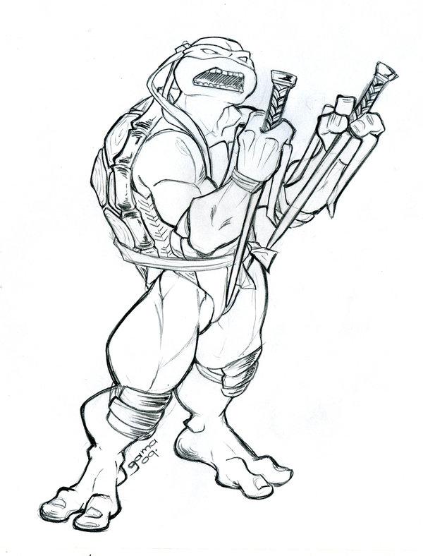 600x788 Raphael Tmnt Sketch By Romax25