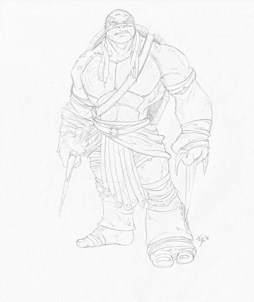 820x975 Tmnt 2014 Raphael (Sketch) By The Sketch Fox
