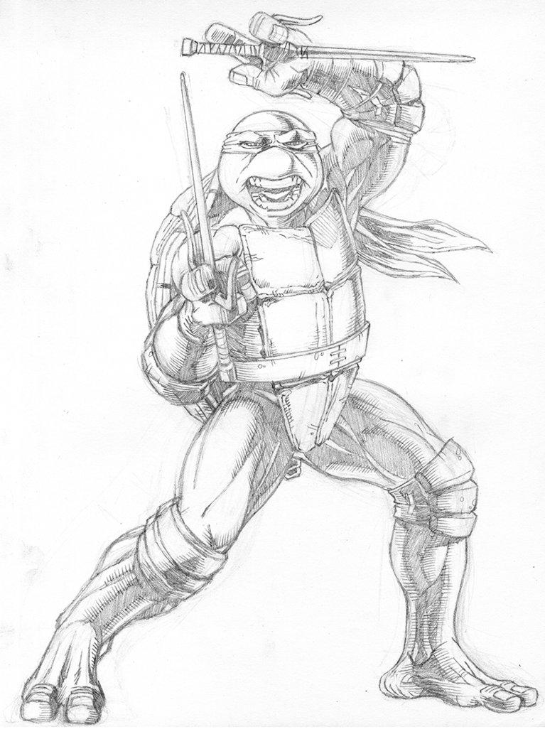 767x1040 Tmnt Raphael (Pencils) By Khilleus