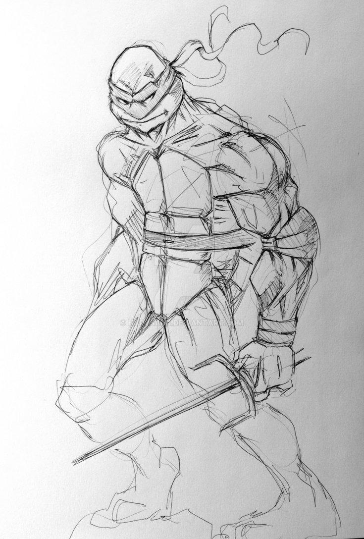 735x1088 Tmnt Raphael Laundry Sketch By Harosais1