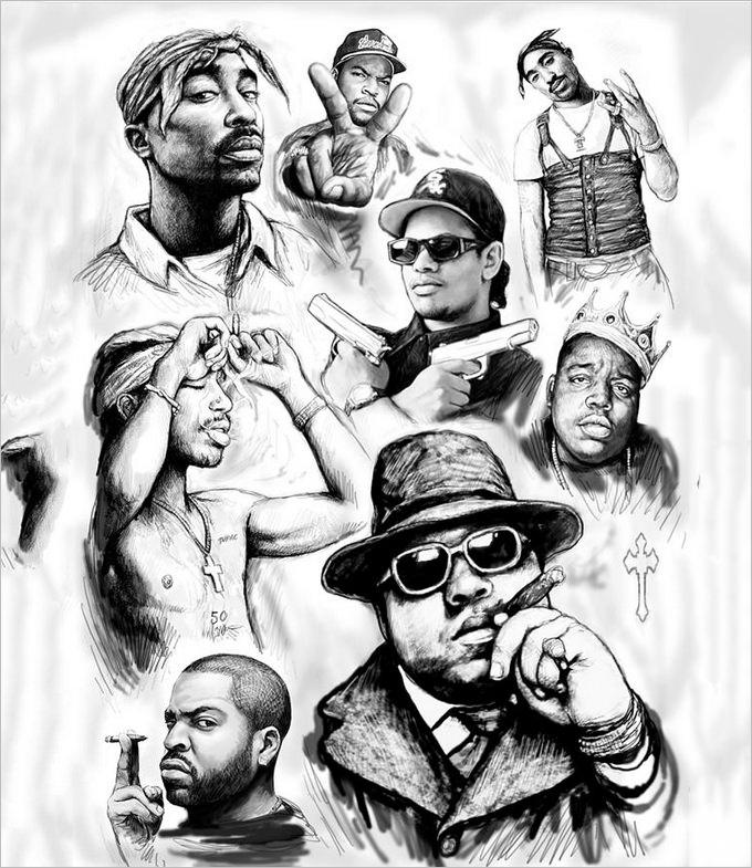 Rapper Drawing