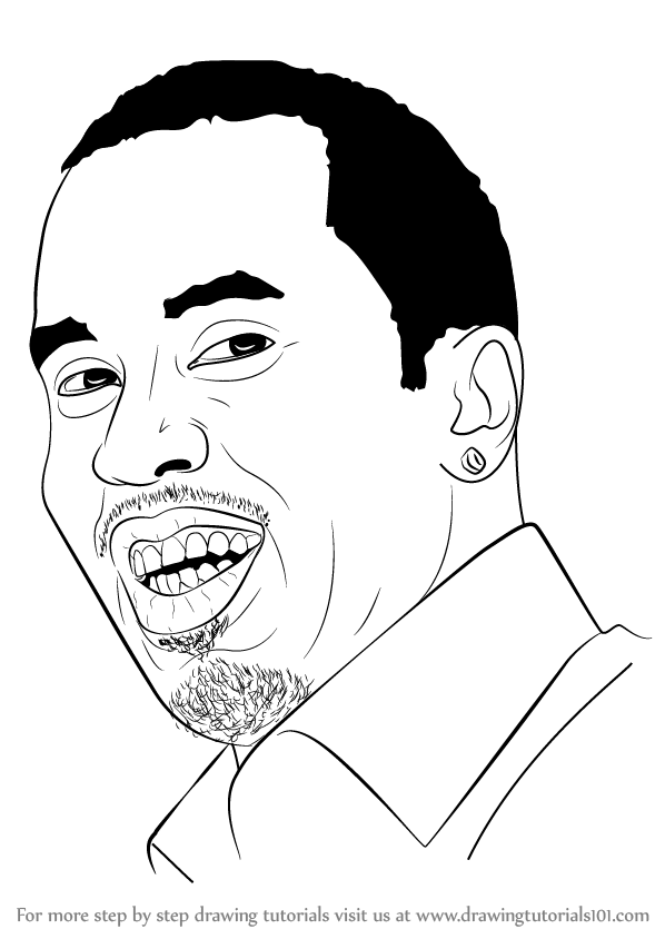 598x844 Learn How To Draw Sean Combs Aka Puff Daddy (Rappers) Step By Step
