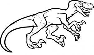 302x176 How To Draw How To Draw A Velociraptor Dinosaur