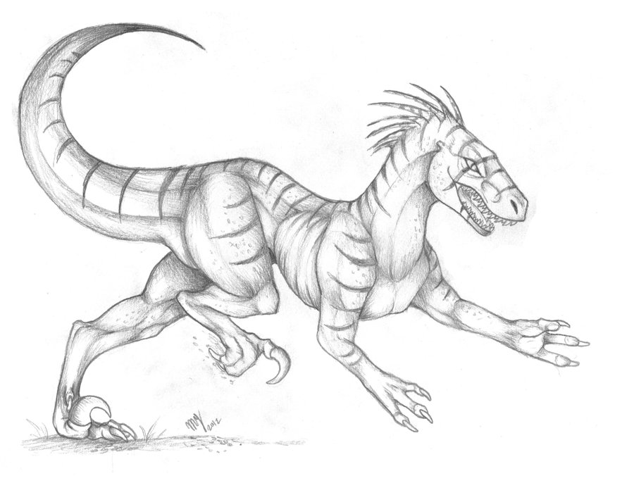 900x713 Raptor Sketch The Hunt By Suenta Deathgod