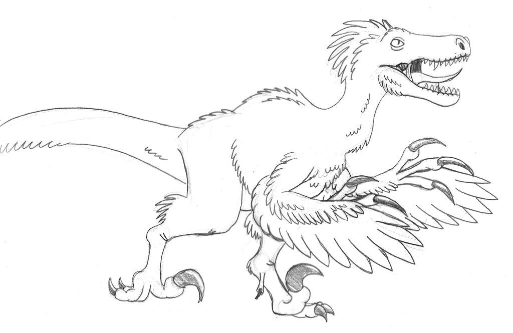 1024x665 Attacking Raptor Sketch By Tyrannoninja